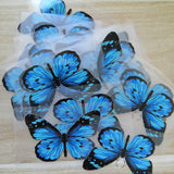 Blue Butterfly Stickers For DIY or Custom Air Force 1/Vans or Sneakers
