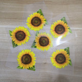 Custom Vans Sunflower Stickers, Easy Use Tested Durable Iron On Sunflower Patches, Best For DIY A Floral Shoes Perfect Gift for Her