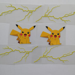 Pikachu patches for shoes
