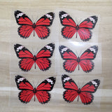 Red Butterfly Iron On Patches For Custom Shoes Red Butterfly