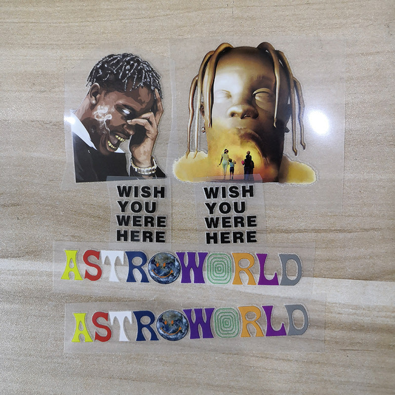 Travis Scott Astroworld Iron On Patches For Custom Air Force 1, Perfect Patches For Custom Sneakers/Vans/AF1 Travis Sccot Theme, Best Gift For Her
