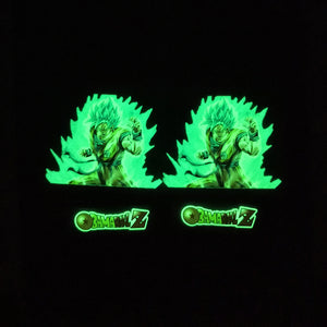 Dragon Ball Z Glow In Dark Iron on Stickers For Custom Air Force 1/ Vans/ Converse