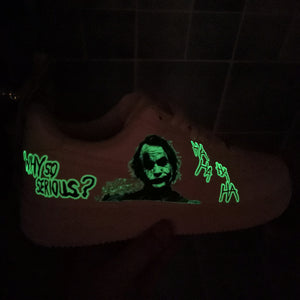 custom shoes joker glow in dark