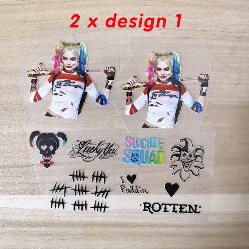 Harley Quinn stickers for shoes