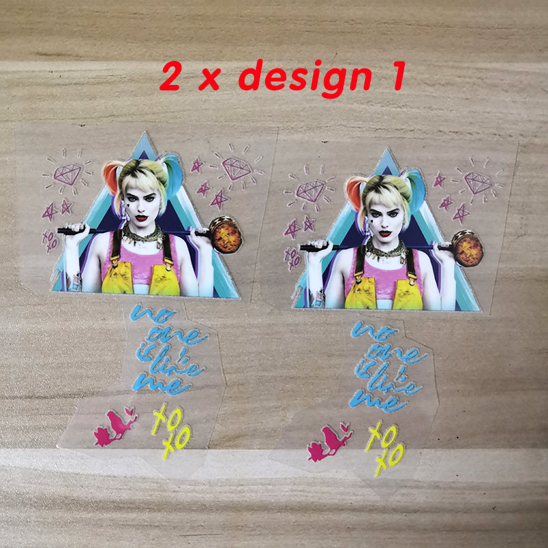 Harley Quinn Birds of Prey Iron on Stickers For Custom Shoes, Perfect Harley Quinn Patches For AF1/Vans Decal Best Gift For Her