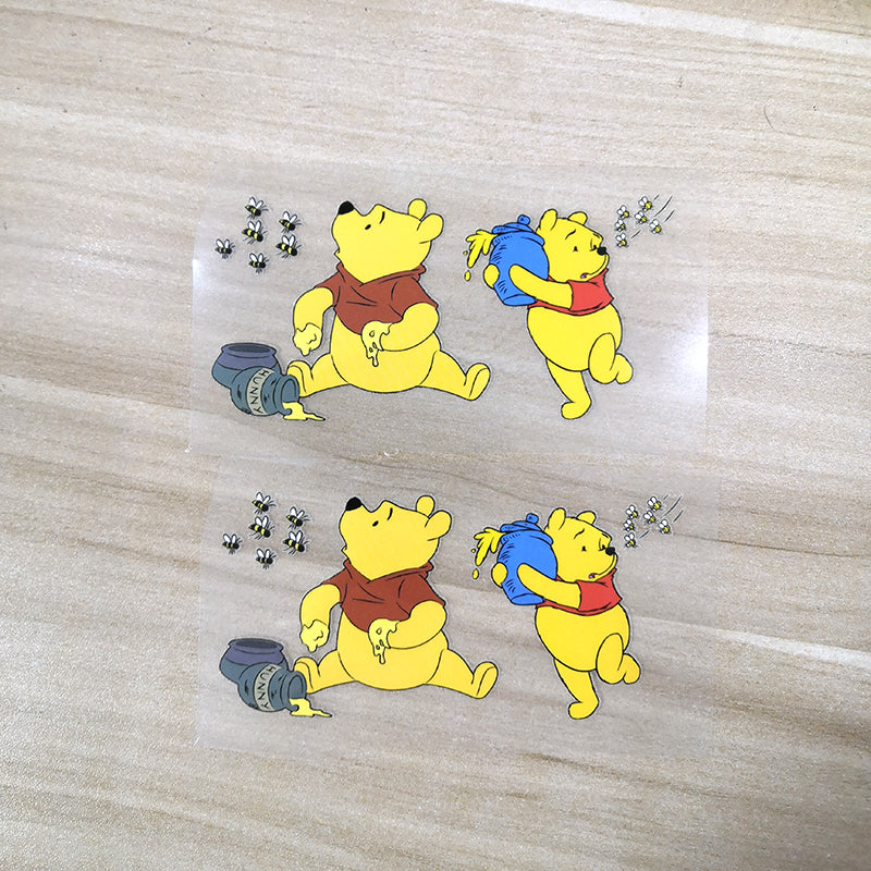 Winnie the Pooh Iron on Patches for DIY/Custom Air Force 1 For Your Kids Shoes