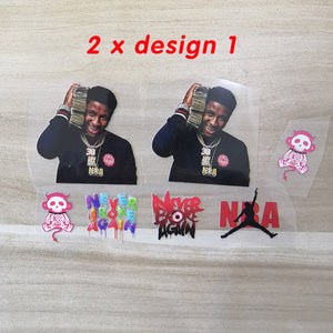 NBA Young Boy Iron On Stickers For Custom Shoes, Never Broke Again Heat Transfer Stickers For Custom Sneakers/Vans/AF1 NBA Younboy Theme