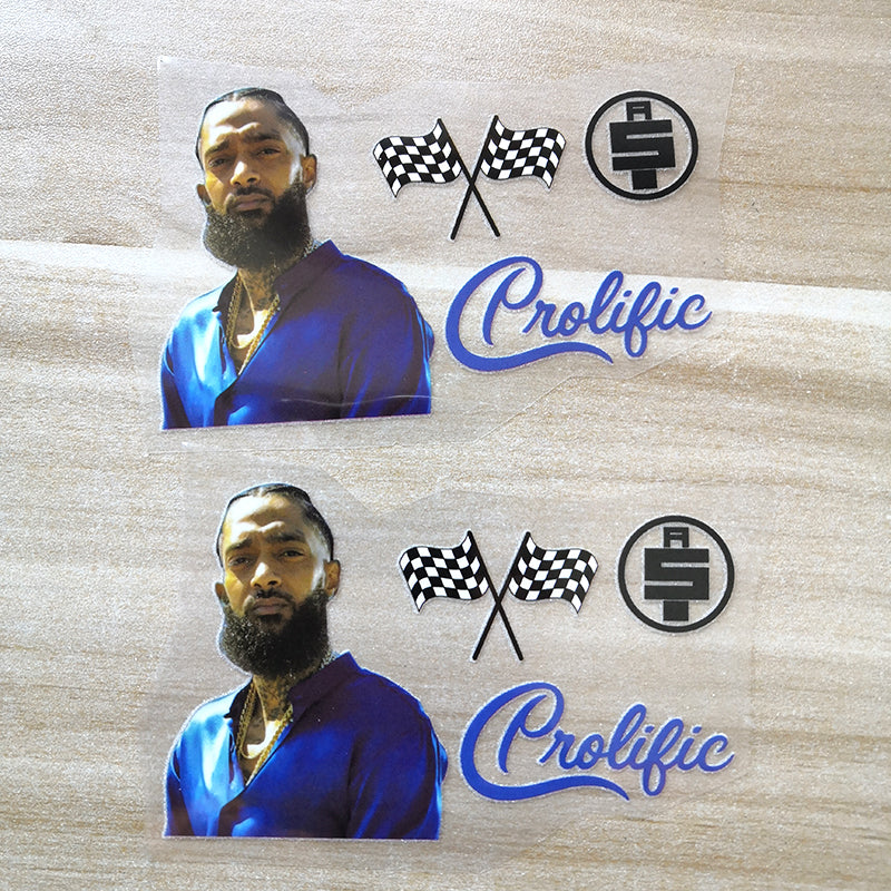 Nipsey Hussle stickers for shoes
