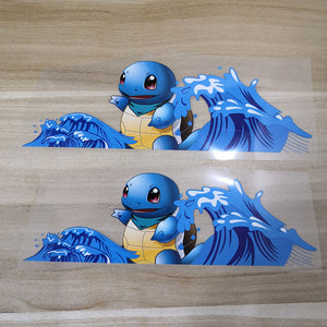pokemon Squirtle patches for shoes decal