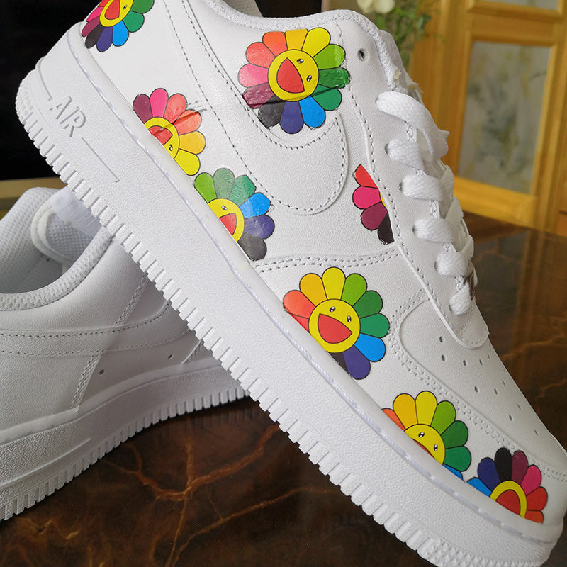 Takashi Murakami Flower Stickers For Custom Floral Vans or AF1 Custom Shoes