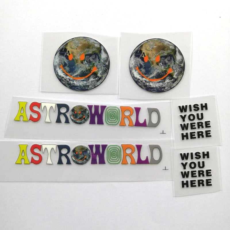 Astroworld Smile Earth Patches For Custom Air Force 1 , Perfect Patches For Custom Sneakers/Vans/AF1 Travis Sccot Theme, Best Gift For Her