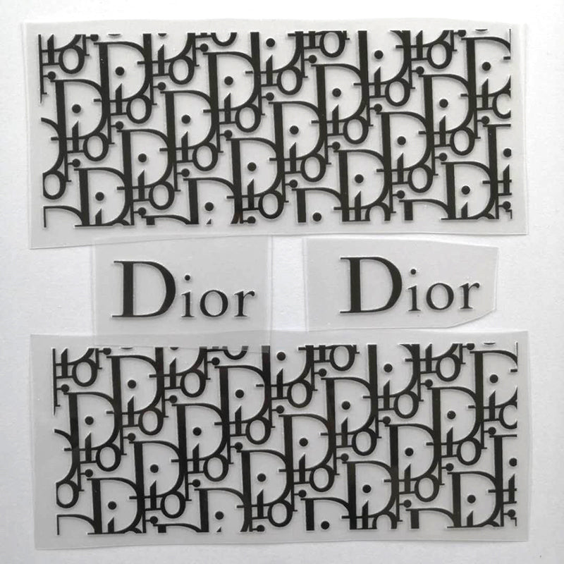 Black Dior Patches For DIY or Custom Sneakers