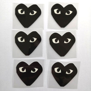 Comme des Garçons Patches For Custom Air Force 1, Perfect Red Heart For Custom Sneakers/Vans/AF1 ADG Theme