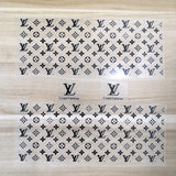 black lv patches for shoes decal