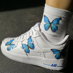 Custom Air Force 1 Low Blue Butterfly Air Force One Theshoesgirl