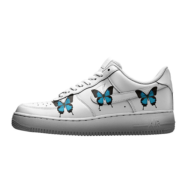 custom air force 1s butterfly