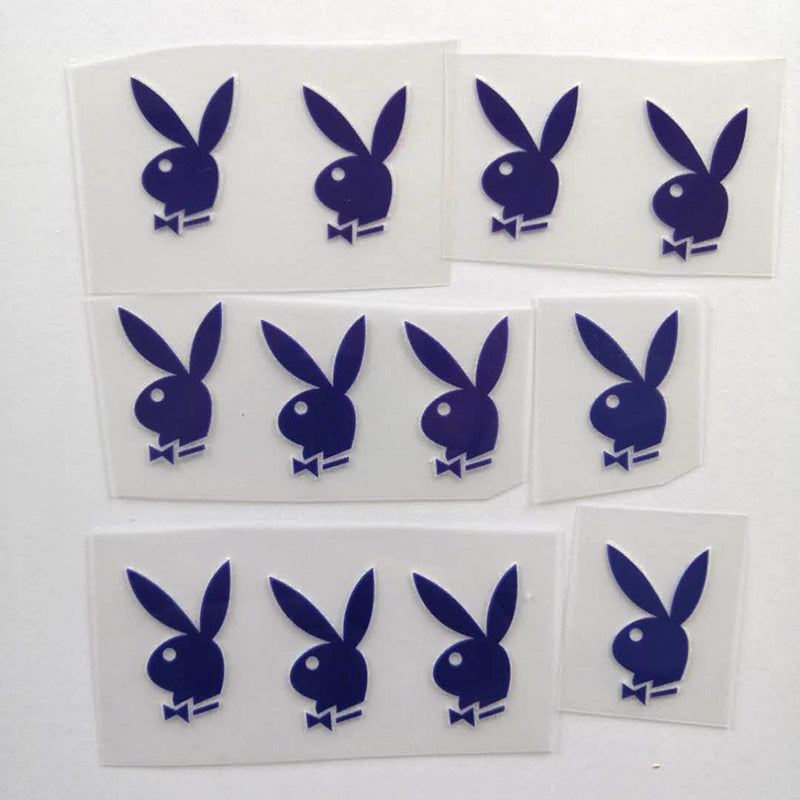 Blue Playboy Bunny Heat Transfer Decal for Air Force 1 Customs.
