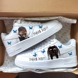 Travis Scott Astroworld Butterfly Effect Iron On Patches For Custom Air Force 1, Perfect Patches For Custom Sneakers/Vans/AF1 Travis Scott Theme, Best Gift Idea