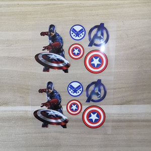 Captain America Heat Transfer Stickers, Iron on Captain Marvel Patches for DIY/Custom Shoes Marvel