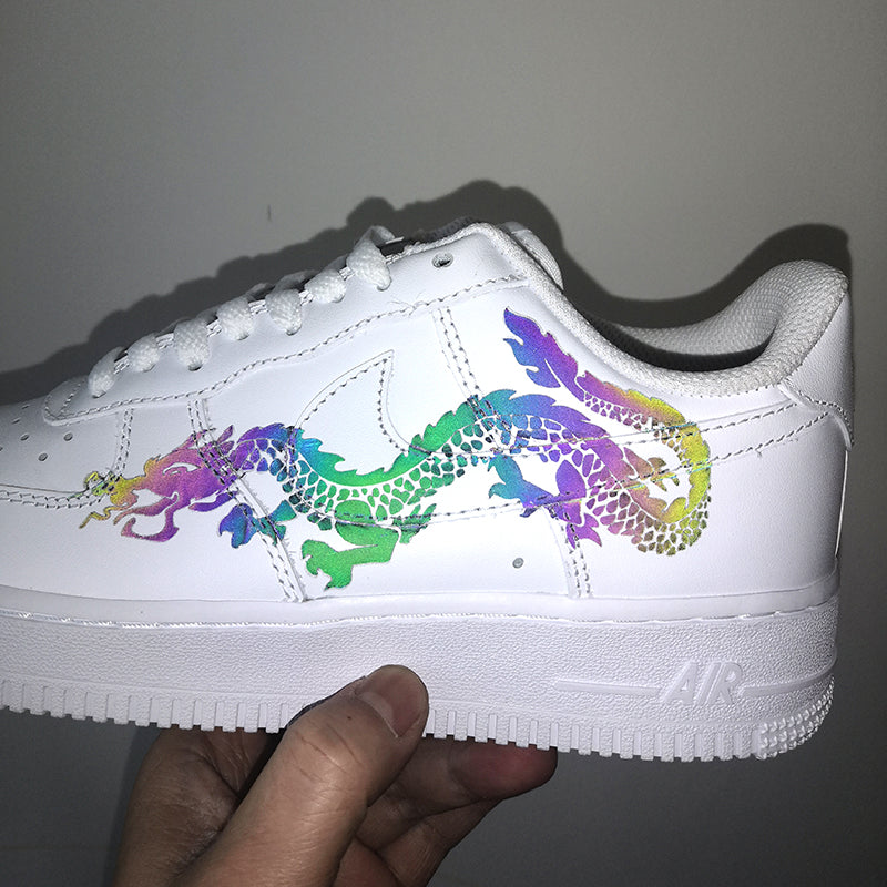 Colorful Reflective Dragon Patches for DIY / Custom Air Force 1 Dragon Easy Use