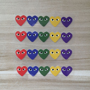 small colors CDG stickers for Nike Shoes Swoosh