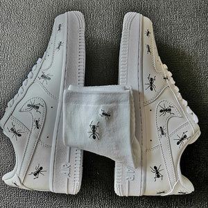 Custom AF1 Don't Mess With the Ants With Matching Ants Socks