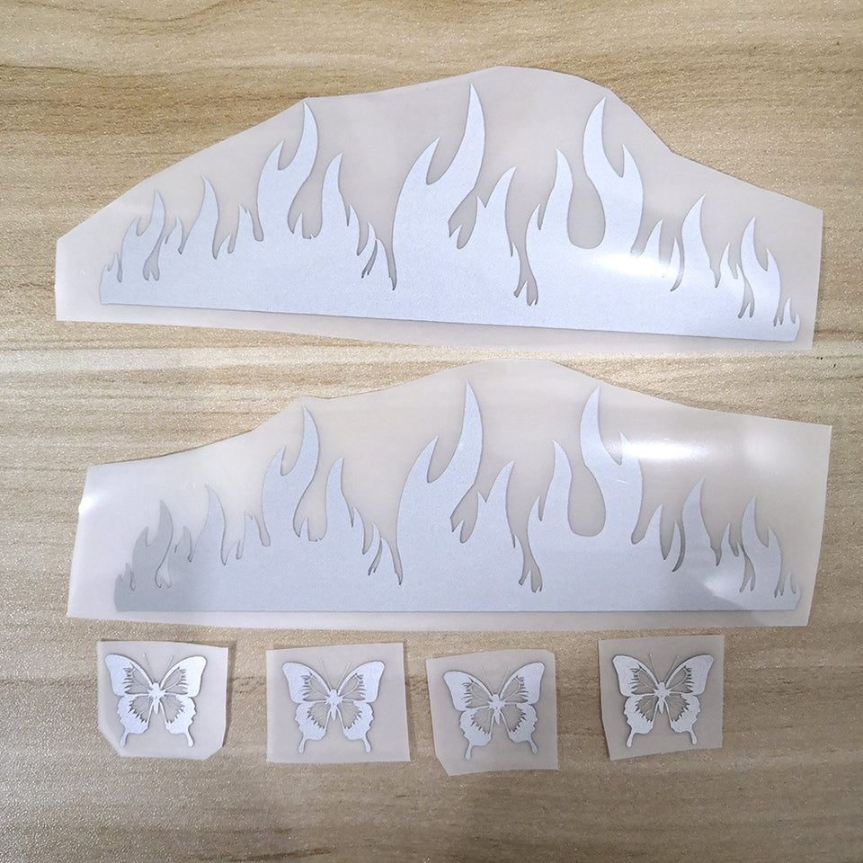 3M Reflective Flame Patches For Custom Air Force 1 Reflective Flame Perfect Gift for Man or Women