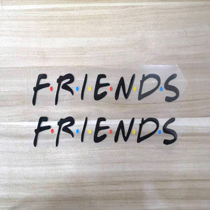 Friends Logo Iron On Patches for Custom Air Force 1 or Vans, Custom Shoes Decal Friends