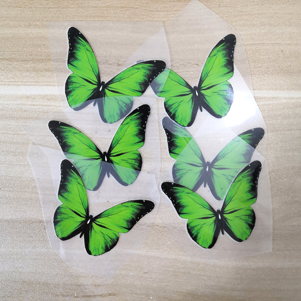 Green Butterfly Patches For Custom Butterfly Sneaker Green Butterfly Stickers for Shoes