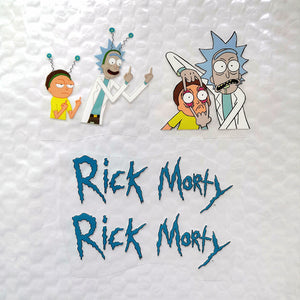 Iron On Patches Rick and Morty for DIY/Custom Air Force 1 Rick and Morty Theme