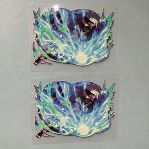 Naruto Kakashi Glow In Dark Iron on Stickers For Custom Air Force 1/ Vans/ Converse