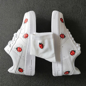 Iron On Ladybug Patches For Custom Sneaker-Adult or Kids Shoes