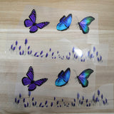 Romantic Purple Lavender and Purple Butterfly Patches For Custom Butterfly Shoes