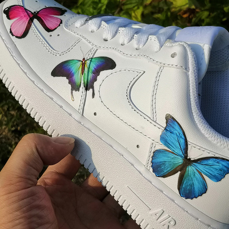 Custom Air Force 1 with 3 Different Butterflies