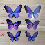 purple butterfly patches for custom shoes