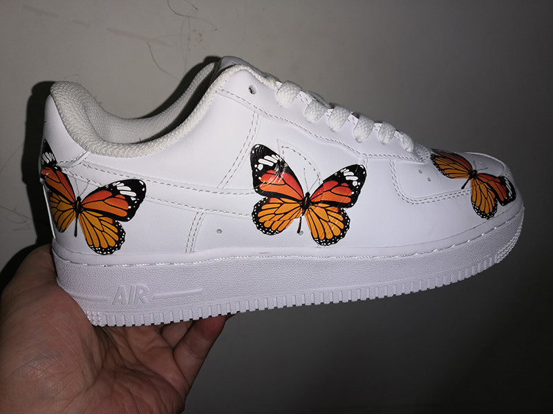 Monarch Butterfly Patches For Custom Air Force 1 or Vans. Easy Iron On DIY Monarch Butterfly Stickers, Best Monarch Butterfly Gift for her