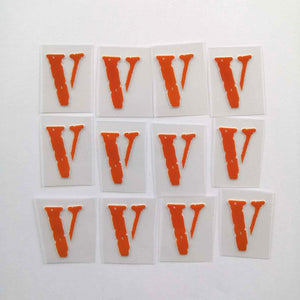 Orange Vlone Iron on Patches for Air DIY or Custom Air Force 1
