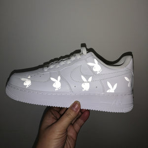 Playboy Bunny Heat Transfer Vinyl 3M Reflective Decal for Air Force 1 Customs.