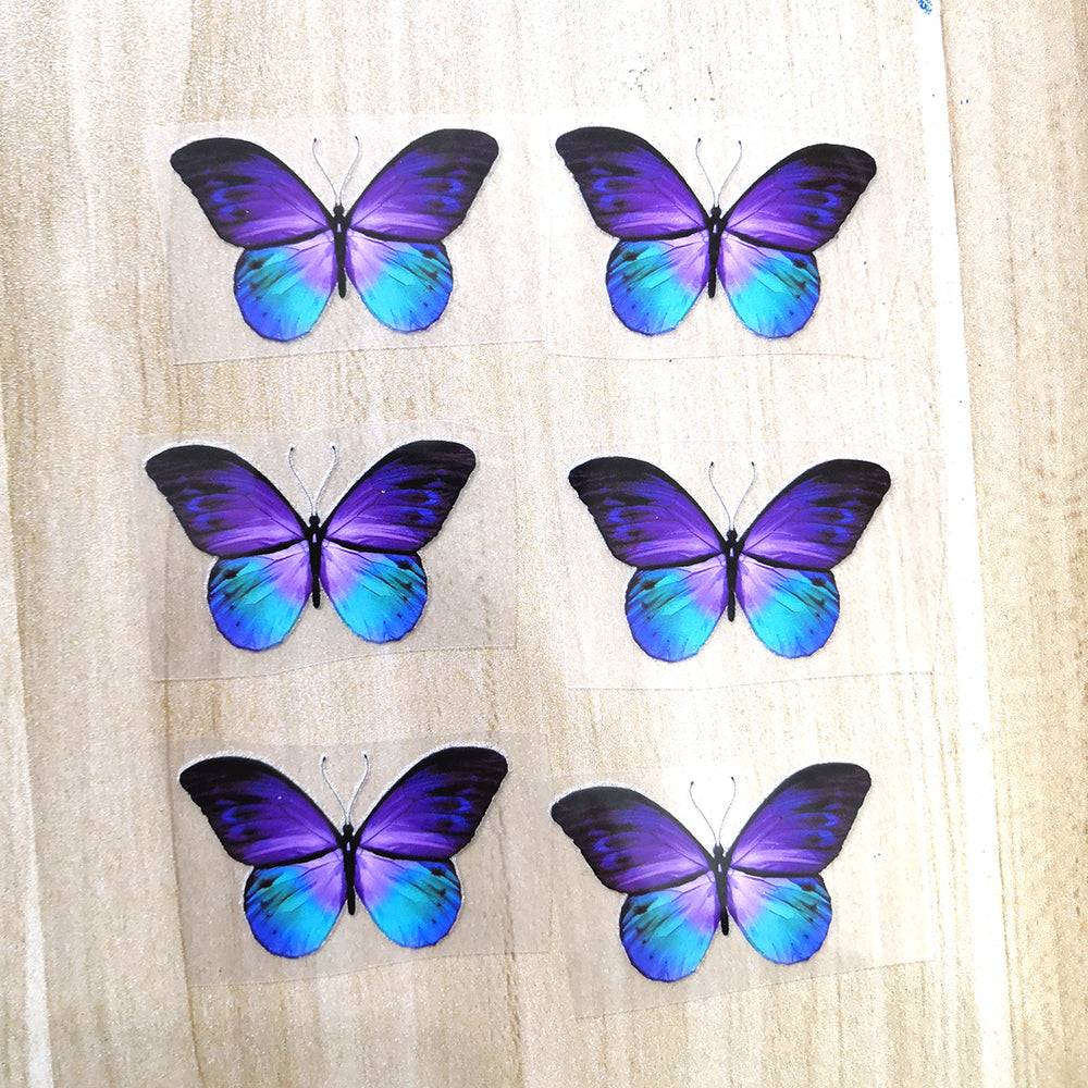 Purple Butterfly Patches For Custom Butterfly Sneaker Purple Butterfly Stickers for Adult or Kids Shoes