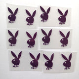 Purple Playboy Bunny Patches for Custom Sneakers