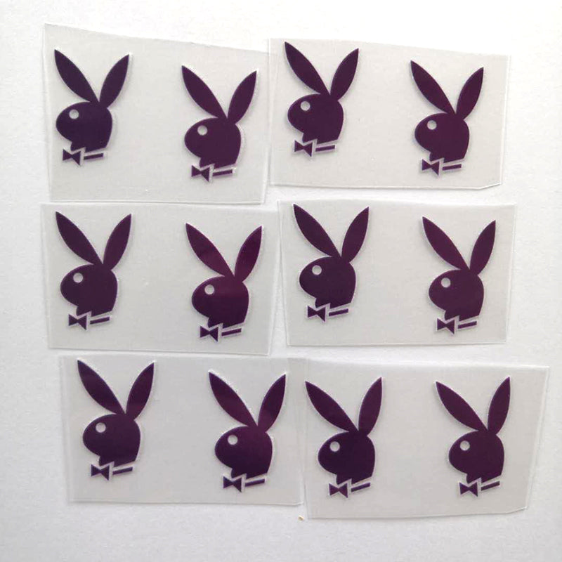 Red Playboy Bunny Patches for Custom Sneakers
