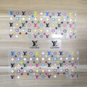 rainbow heat transfer LV stickers