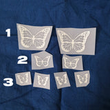 Butterfly Reflective Heat Transfer Vinly Patches For Custom Air Force 1 Reflective Butterfly
