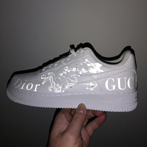 3M Reflective Dinosaur Gucci Dior And Blossom For Custom Air Force 1 Reflective