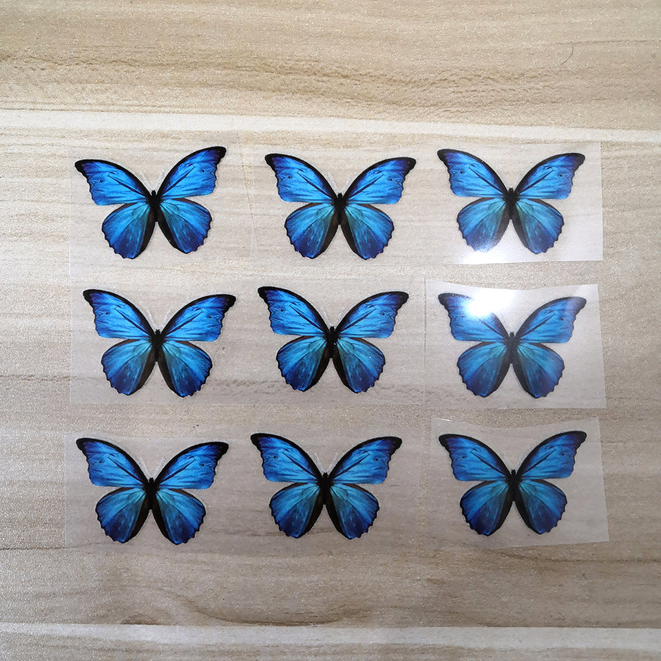 Small Blue Butterfly Patches To Custom Air Force 1 Butterfly For Kids Shoes