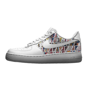custom air force 1 fendi
