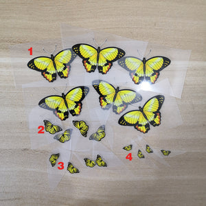 Various Cheap Iron On Yellow Butterfly Patches For DIY Butterfly AF1 For Adult or Kids Shoes