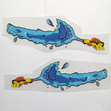 Water Gun Iron on Patches for Air Force 1 Swoosh For Shoes Decal