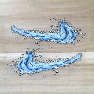 Water Swoosh Iron on Stickers for Air Force 1 Or Other Nike Shoes
