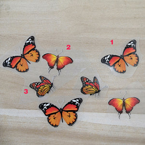 Monarch Butterfly Patches 3 Designs 7 Butterflies Stickers For DIY Adult or Kid Shoes